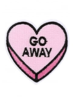 Go Away Heart Iron-On Woven Patch