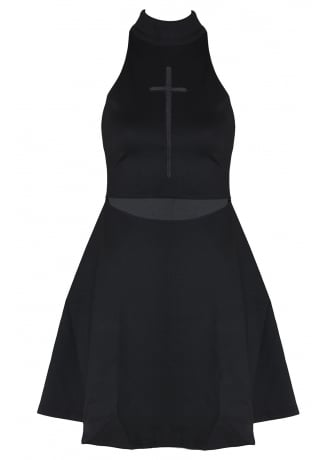Attitude Clothing Gothic Crucifix Dress