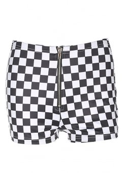 High Waisted Checkerboard Shorts