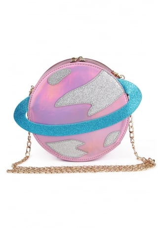Attitude Clothing Iridescent Planet Shoulder Bag