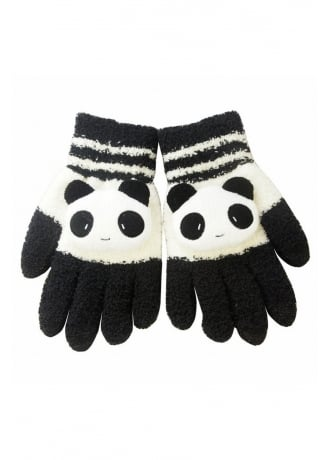 Attitude Clothing Kawaii Panda Touchscreen Gloves