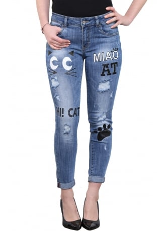 Attitude Clothing Kitty Distressed Skinny Jeans