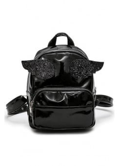 Li'l Angel Black Mini Backpack