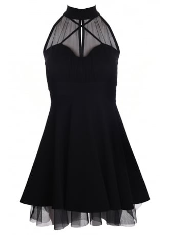 Attitude Clothing Mesh Net Skater Dress