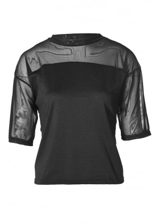 Attitude Clothing Mesh Panel Top