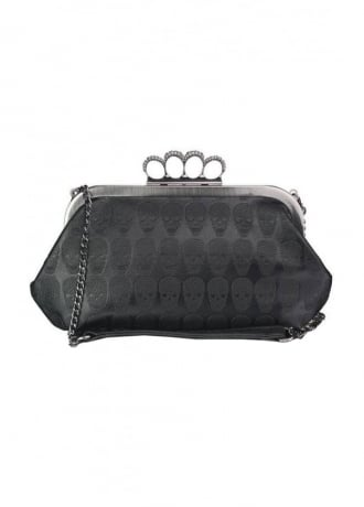 Attitude Clothing Multi Skull Clutch Bag