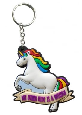 My Other Ride Is A Unicorn Keyring