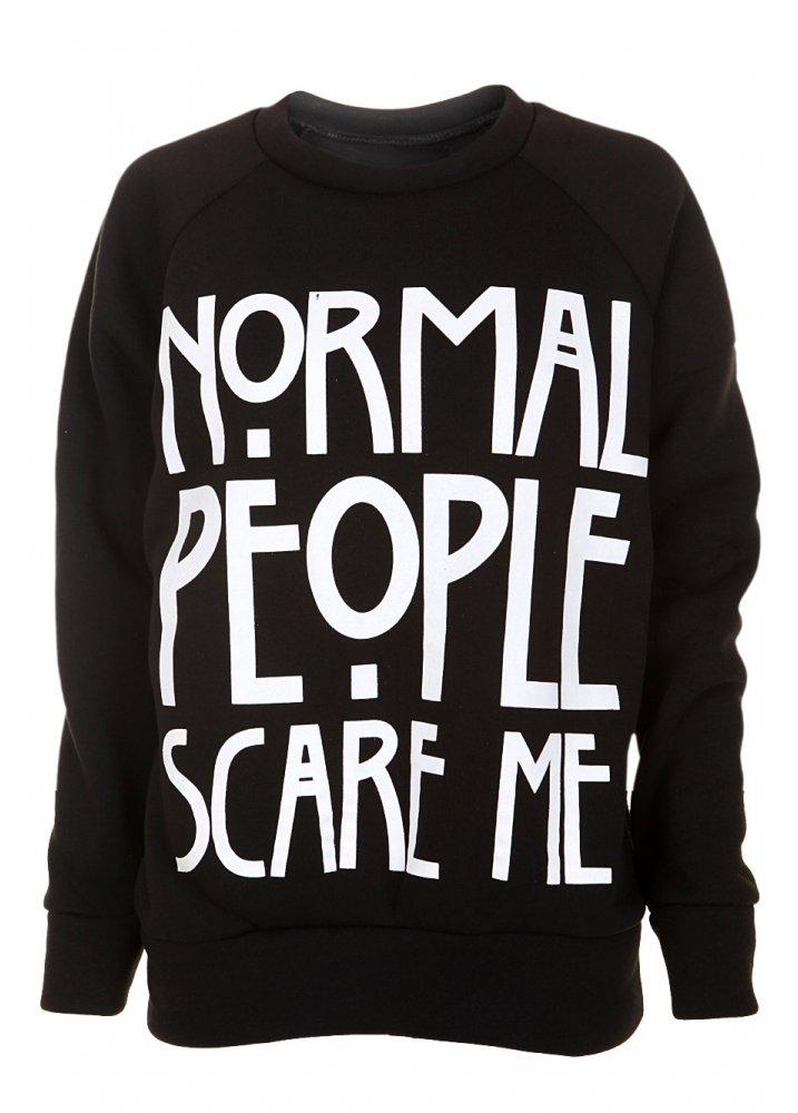 932ba823 Normal People Scare Me Sweatshirt   Attitude Clothing