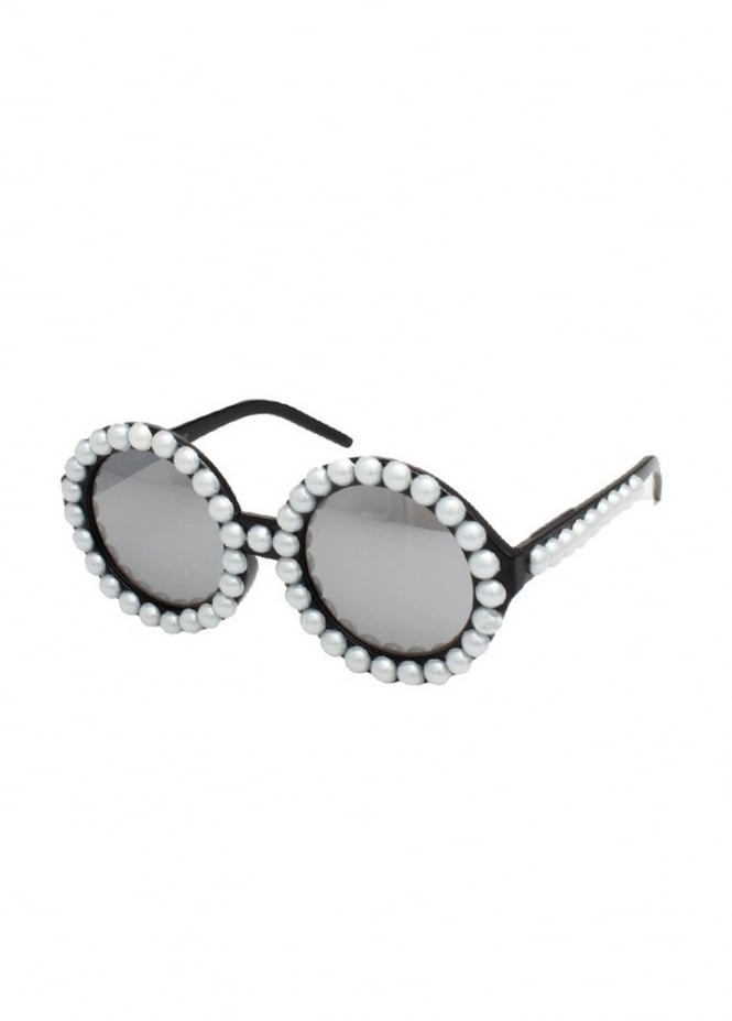 Attitude Clothing Pearl Round Sunglasses