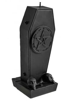 Pentagram Coffin Candle