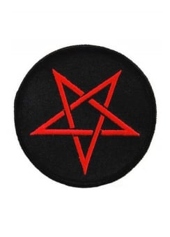 Pentagram Iron-On Woven Patch