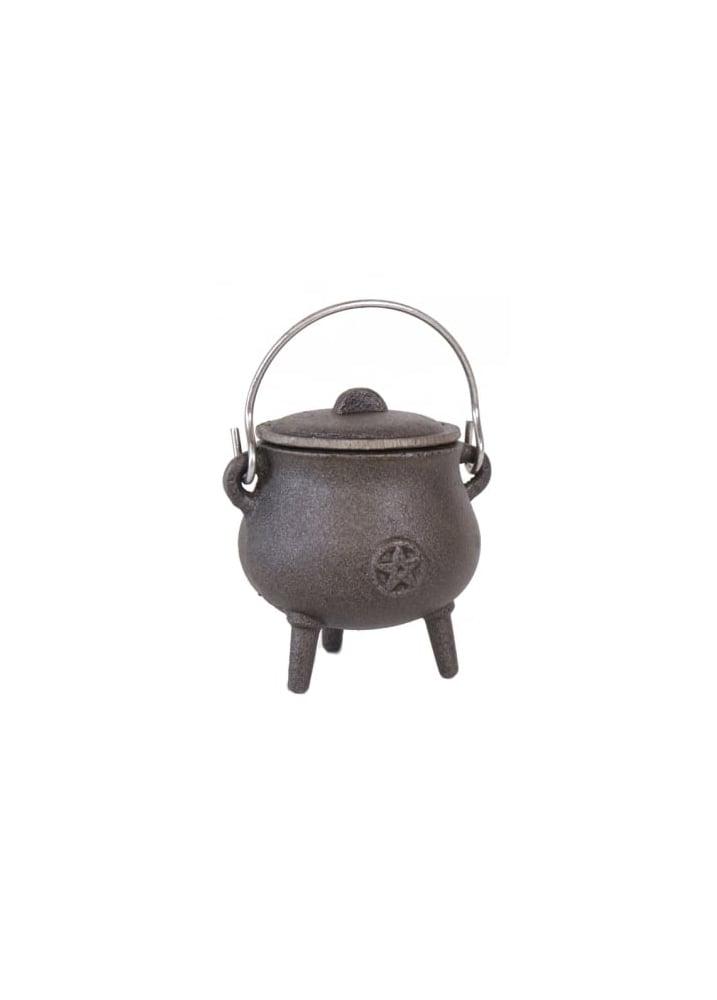 Pentagram Small Cast Iron Cauldron