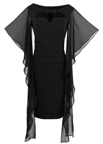 Attitude Clothing Petal Sleeve Gothic Bodycon Dress