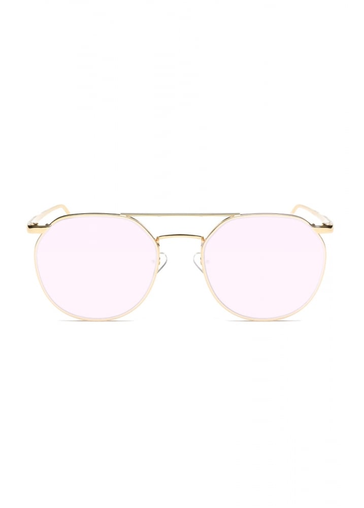 d987833fa84 Pink Mirror Metal Frame Sunglasses