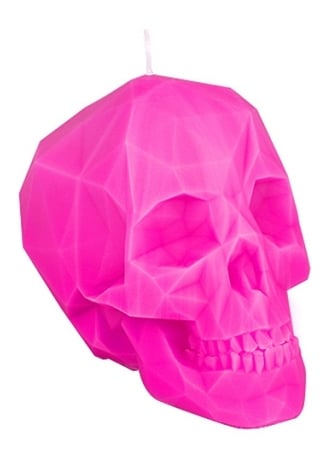 Attitude Clothing Pink Polly-Skull Candle