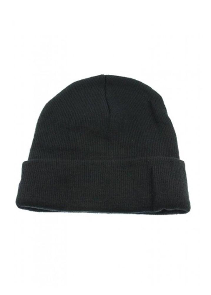 2c91873bd4b Attitude Clothing Plain Black Beanie