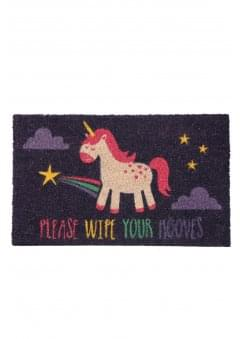 Please Wipe Your Hooves Unicorn Doormat