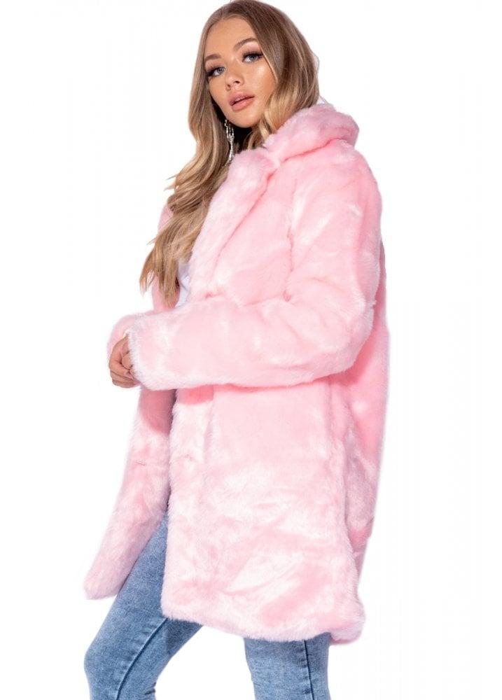e86adcbdf Pretty In Pink Faux Fur Coat