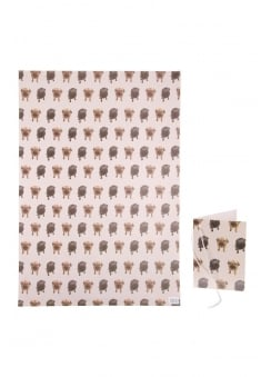Pug Wrapping Paper & Tag