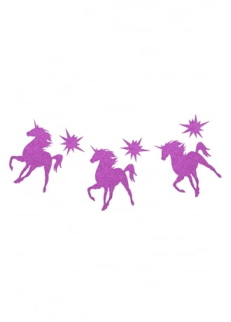 Attitude Clothing Purple Glitter Unicorn Bunting