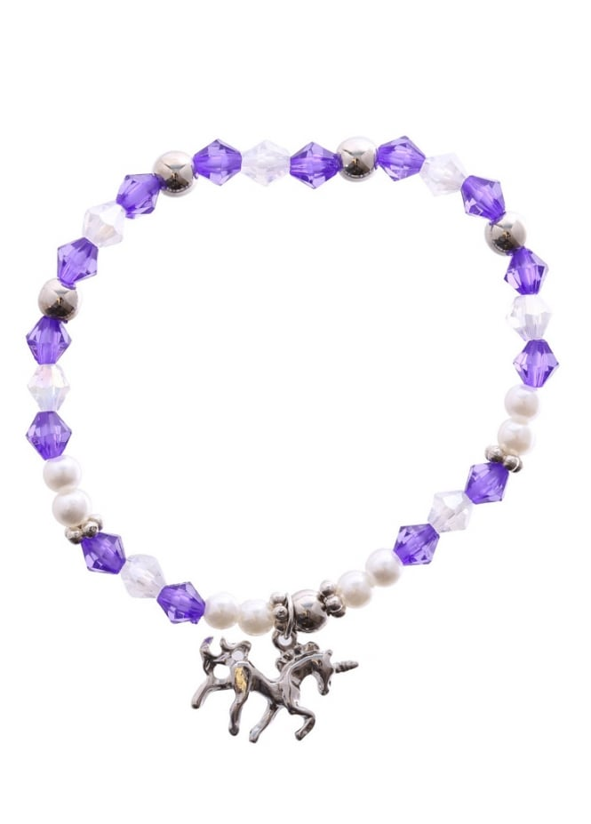 Attitude Clothing Purple Mystical Unicorn Bracelet