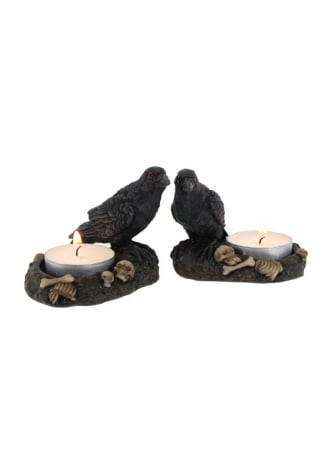 Attitude Clothing Raven Candle Holders