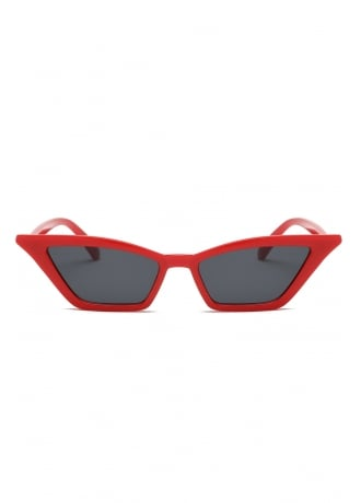 Attitude Clothing Red Cat Eye Sunglasses
