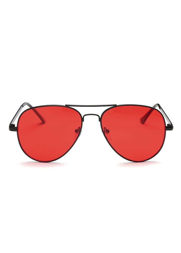5ca78114407 Red Lens Aviator Sunglasses
