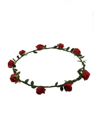 Attitude Clothing Red Rose Hair Garland