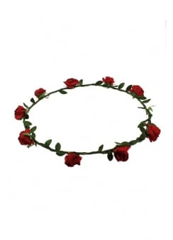 Red Rose Hair Garland