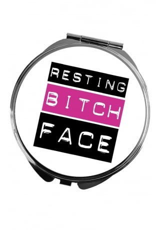Attitude Clothing Resting Bitch Face Pocket Mirror