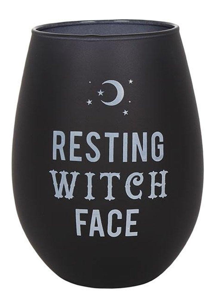 b9c3e87fe1e Resting Witch Face Stemless Wine Glass | Attitude Clothing