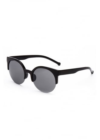 Attitude Clothing Retro Cat Eye Half Frame Sunglasses