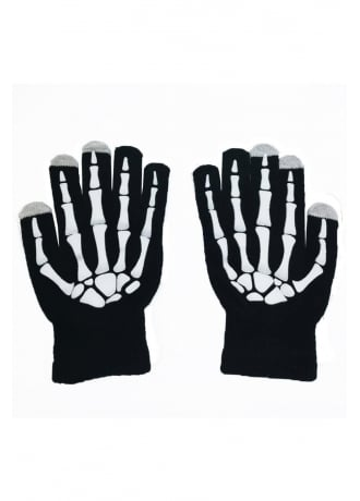 Attitude Clothing Skeleton Hand Touch Screen Gloves