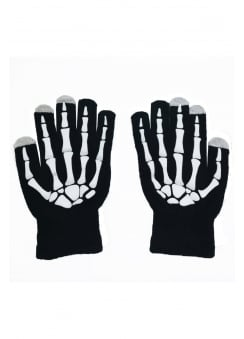 Skeleton Hand Touch Screen Gloves