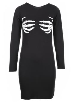 Skeleton Hands Bodycon Mini Dress