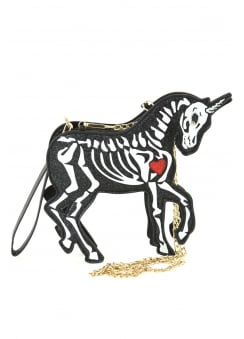 Skeleton Unicorn Shoulder Bag