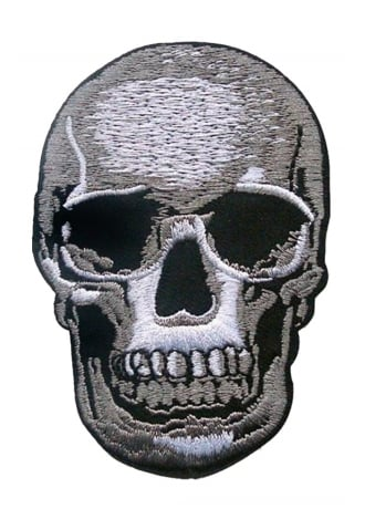 Attitude Clothing Skull Iron-On Woven Patch