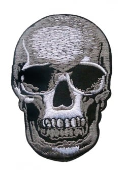 Skull Iron-On Woven Patch