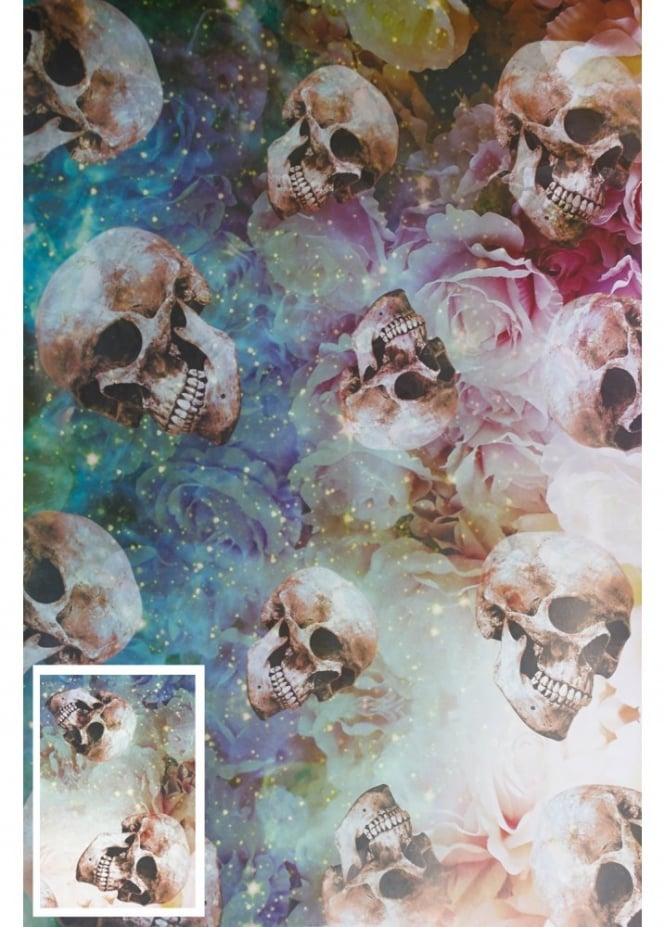 Attitude Clothing Skull Rose Wrapping Paper & Tag