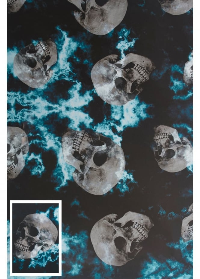 Attitude Clothing Skull Wrapping Paper & Tag