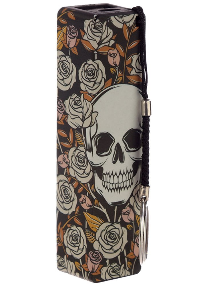 Skulls Roses Portable Usb Charger Power Bank Attitude Clothing