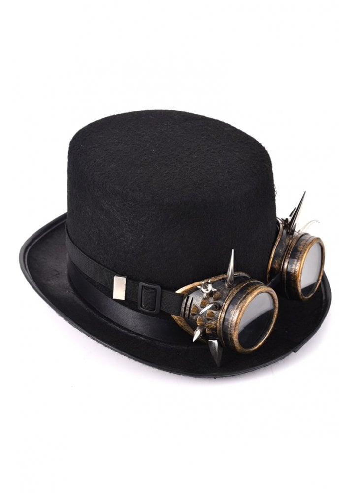 Favoriete Steampunk Top Hat & Spike Stud Goggles | Attitude Clothing #KZ62