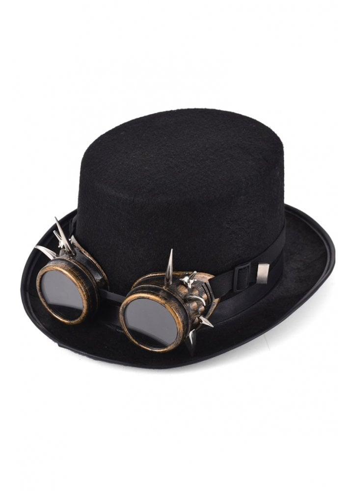 f19a95ea1cdad Steampunk Top Hat  amp  Spike Stud Goggles