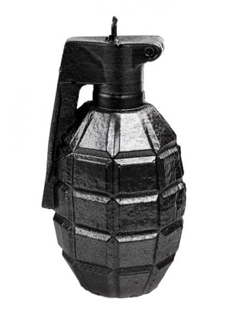 Attitude Clothing Steel Grenade Candle