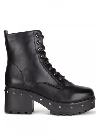 Attitude Clothing Studded Military Boot