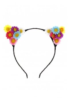 Sunflower Cat Ear Hairband