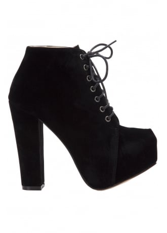 Attitude Clothing Synthetic Suede Ankle Boot