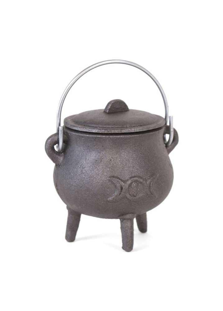 Triple Moon Small Cast Iron Cauldron