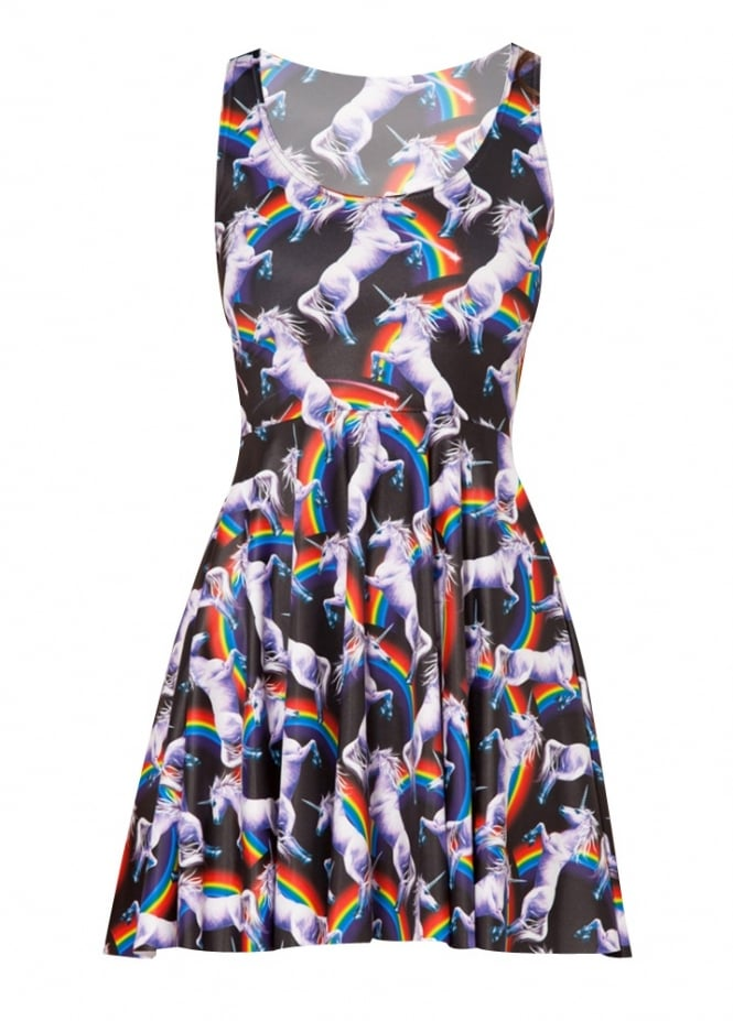 Attitude Clothing Unicorn Kawaii Skater Dress
